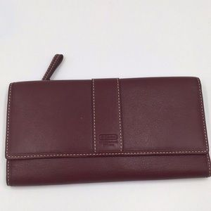 Coach Leatherware Vintage Brown Trifold Wallet